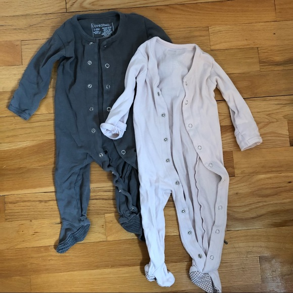 2 x Loved baby footie one pieces 3-6 months